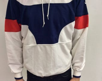 Vintage Nike Pullover Sweatshirt Red white Blue Colorblock