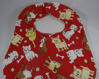 Baby Bib - Dog Print