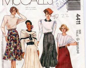 "Trumpet Skirt Pattern Gored Skirt Pattern Skirt and Belt McCALLS 4411 waist 34-39"" Plus Size Skirt Plus Size Pattern Flared Skirt Pattern"