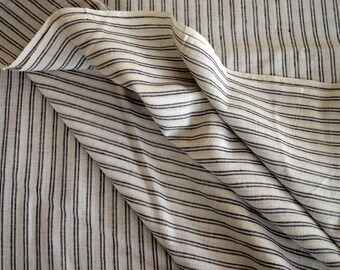 Indian Khadi,Black KHADI Fabric, Natural Hand Weaved Cotton Fabric, Indian Fabric sold by the yard, Khadi Cotton fabric, Tribal KHADI FABRIC