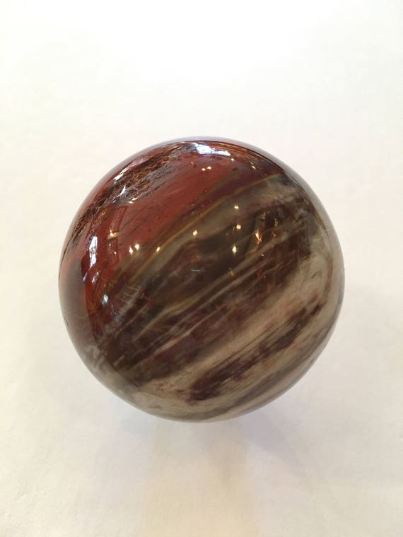 PETRIFIED WOOD Sphere// Crystal SPHERE// Healing Gemstone// Crystal Ball// Home Decor// Healing Tools// Fossilized Wood Sphere// Fossil Wood