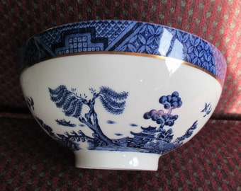 Royal Doulton Booth's Real Old Willow Serving Bowl Made in England