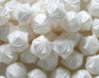 White Floral Origami Kasudama ball x 45