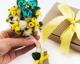 Gift Magnet For Bridesmaid Yellow Fridge Magnet Bridal Shower Gift Ideas for Her Flower Gift Rose Flowers Magnet Bridesmaid Gift FM19