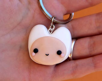 Finn The Human Necklace Adventure Time Keychain
