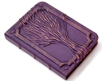Leather journal, leather notebook, travel journal, leather diary sketchbook, blank book, purple journal