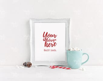 8x10 Christmas styled frame / Styled stock photography / Instant download / vertical frame mockup / #5252