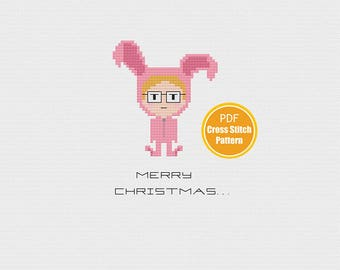 Christmas Cross stitch Patterm - PDF Instant Download - A Christmas Story Cross stitch - Ralphie