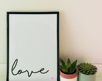 Love - Black and White Print