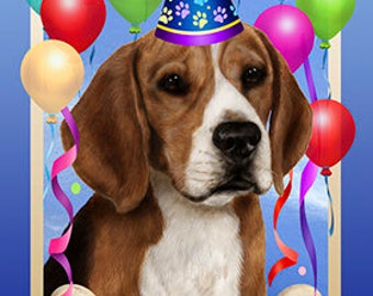 Beagle Customized Birthday Flags