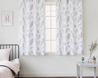 "Natural Leaf Curtains Grommet Curtains 67""L White"