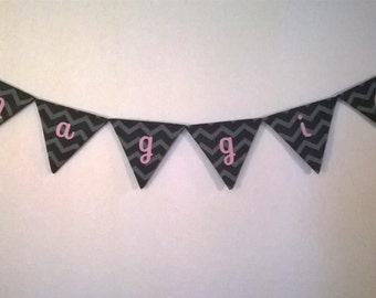 Custom Baby Name Flags