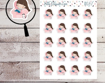 Lazy Day Character Planner Sticker for all Planners