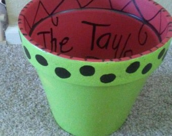Personalized extra large terra cotta pots