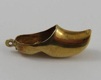 Dutch Clog 14K Gold Vintage Charm For Bracelet