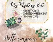 July Mystery Kit: HELLO GORGEOUS | Planner Stickers | For Erin Condren LifePlanner