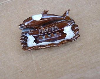 florida ashtray vintage ceramic,florida state souvenir gifts