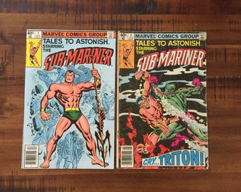 1979 Sub-Mariner #1 and #2 Comic Books/ Tales to Astonish/ 2nd Series/ Marvel Comics/ VF-G/ Choose One or Both for a Discounted Price!!!