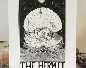Tarot Card Print • 'The Hermit' • By Madison Ross