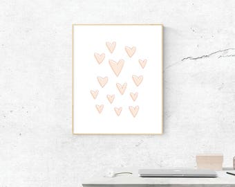 Hearts, Digital Print, Hearts Art, HeartsPrint, Digital Download, Hearts Wall Art, Wall Prints, Printable Art, Hearts Poster