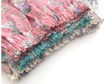 Unicorn skirt - girls skirt - girls clothing - uk handmade - unicorn clothing