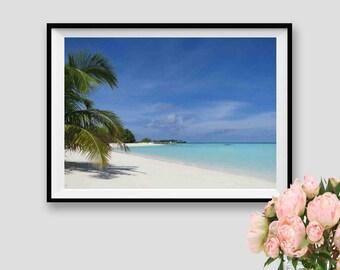 Maldives Ocean Photography Beach Wall Art Sea Instant Download Ocean Art Print Sea Decor Ocean Travel Print Beach Print