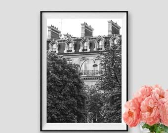 Black and white Paris Architectural Art Paris Print Instant Download Paris Decor Photograpy Paris Wall Art