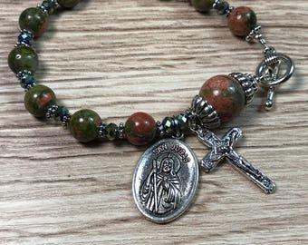 St Jude Rosary Bracelet