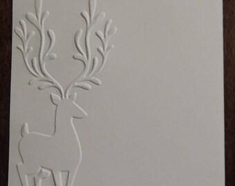 Reindeer Corner,  Embossed Cardstock, Embossed Sheets, Embossed Card Fronts