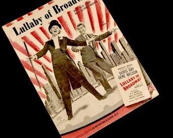 """1935 Sheet Music/Art: """"Lullaby Of Broadway""""    GC2772"""