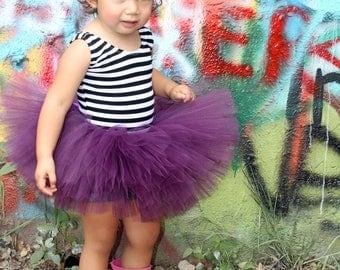 Plum tutu, purple tutu, baby girl tutu, first birthday tutu, full tutu, baby shower gift, photography prop