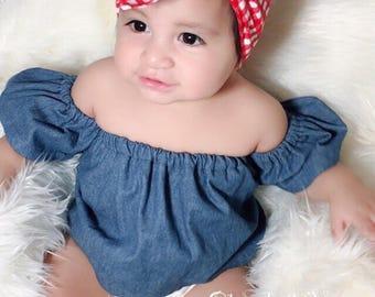 RED GINGHAM Headwrap ; red head wrap ; head wrap ; baby head wraps; toddler head wrap, girls head wrap, baby turban wrap