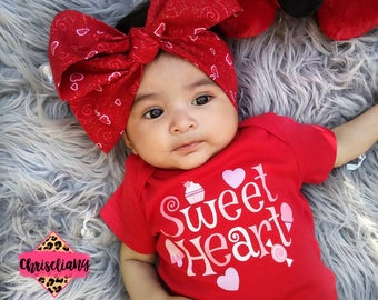 Love Headwraps, Hearts Baby Headwrap, Red Headwrap, fabric head wrap, Baby Girl Headwrap, Newborn Headwrap, Turban Headwrap, Hearts Headwrap