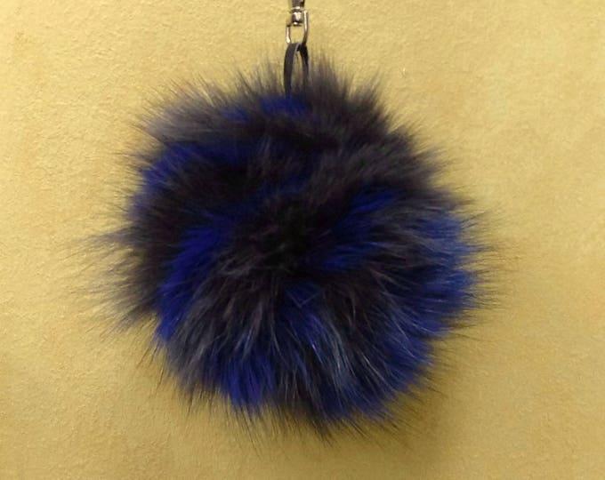 Fox Fur Pom Pom, Bag Pom Pom,Fur keychain F612