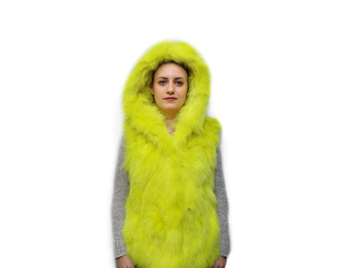 Lemon Yellow Fox Vest F792