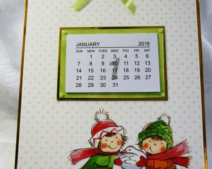 2018 Calendar, Two Children With A White Bird, Ideal Stocking Filler, Any Age, Mum, Sister, Daughter, Niece