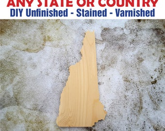 New Hampshire, New Hampshire Wood Cutout, New Hampshire Wall Art, New Hampshire State, New Hampshire Wood Sign, Wooden New Hampshire Sign