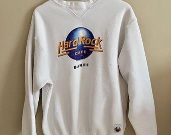 Vintage 80s Distressed Canada Banff Hard Rock Cafe Sweater
