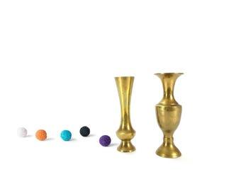 Vintage Brass Vase - Indian Brass Vase - Indian Brass Flower Pot - Ornate Flower Vase - Brass Flowerpots - Brass Flower Vase