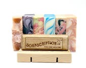 Soap Subscription Box, Homemade Soap Gift Box, Cold Process Soap, Vegan Soap, Spa Gift Set, Soap Gift Set, Gift for Mom, Gift for Women