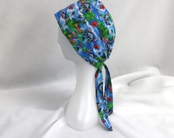 Hawaiian Stitch Surgical Dentist Scrub Cap Chemo Hat
