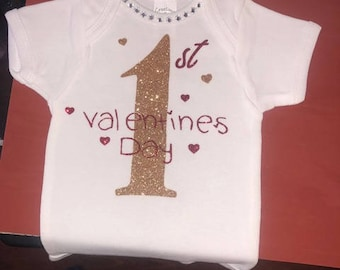 Baby Girls 1st Valentines Day