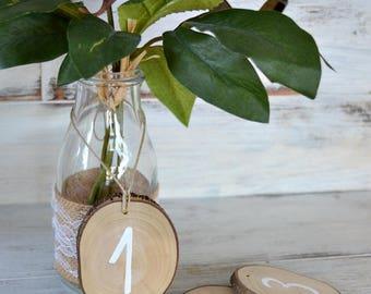 Wedding Table Number Wood Slice,  Rustic Wedding Tree Slice Table Numbers, Wood Ornament Table Number, Rustic Outdoor Wedding Party.