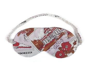 Vintage Print Satin Sleep mask    by Thrill Factory Lingerie