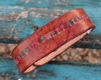 Leather Bracelet, Southern Faith Women's Western, Gypsy, Boho Leather Jewelry