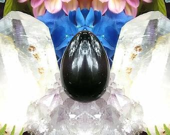 10% OFF! Yoni Egg Meditation Kit (Includes Energized Yoni Egg) Large Drilled Certified Black Obsidian 8717