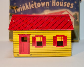 Twinkletown Houses Tin Litho Cape Cod