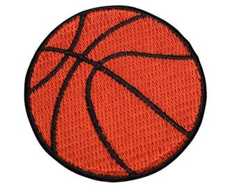 Basketball Applique Patch (Iron on)