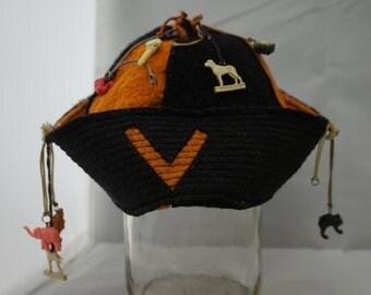 Felt Freshman Beanie Hat Jughead 1950s