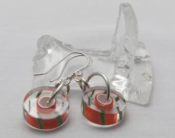 Handmade Furnace Glass Earrings